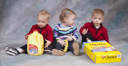 WIC provides essential foods for growing triplets